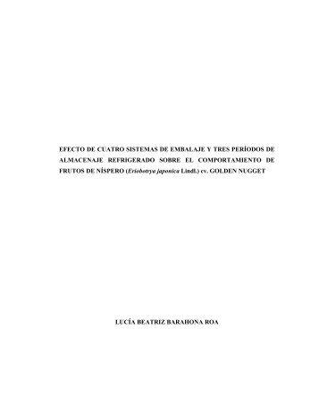 EFECTO DE CUATRO SISTEMAS DE EMBALAJE Y TRES ... - Altavoz