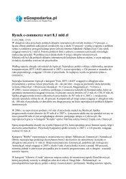 Rynek e-commerce wart 8,1 mld zł - Dom Zdrowia