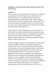 Radiographer reporting - Society of Radiographers