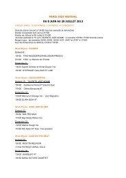 paris jazz festival du 8 juin au 28 juillet 2013 - Radio France