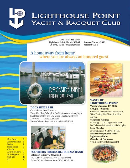 Jan/Feb 2012 - Lighthouse Point Yacht and Racquet Club