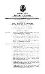 Peraturan Bupati gunungkidul Nomor 12 Tahun 2011 tentang