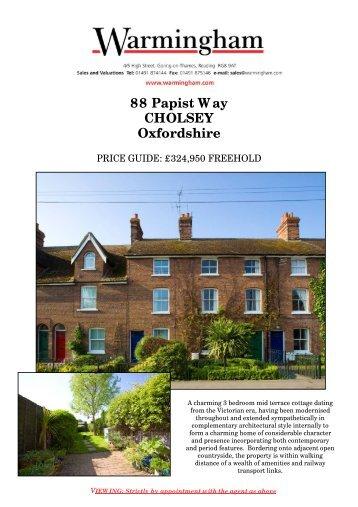 88 Papist Way CHOLSEY Oxfordshire - Warmingham