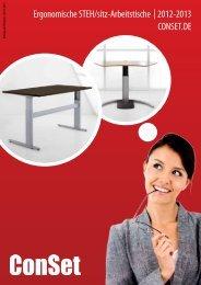 Ergonomische STEH/sitz-Arbeitstische | 2012 ... - Balance and More