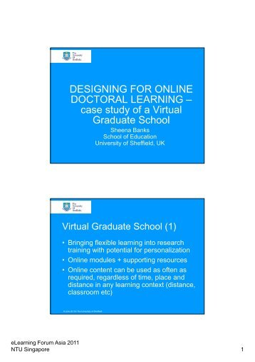 case study of a Virtual Graduate School
