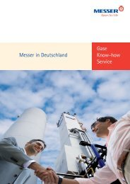 Gase Know-How Service - Messer Industriegase GmbH