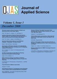 Journal of Applied Science Studies - Ozean Publications