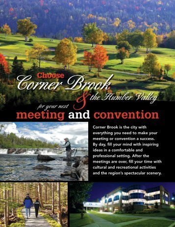 to see our Meeting & Convention Brochure - City of Corner Brook