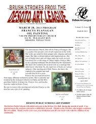 the march 2013 newsletter - desoto art league