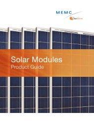 Solar Modules - MEMC
