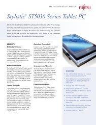 Stylistic® ST5030 Series Tablet PC - Computerworld