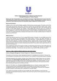 DEVELOPMENT MANAGER - Universum Talent Networks