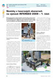 Novinky v laserových skenerech na výstavě INTERGEO 2009 – 1. část