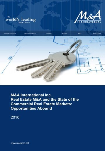 M&A International Inc. Real Estate M&A and the State of the ...