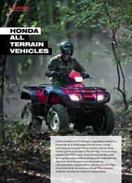 Honda all Terrain VeHicles - Hjallerup Maskinforretning A/S