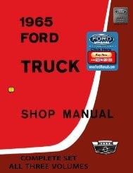 DEMO - 1965 Ford Truck Shop Manual - FordManuals.com