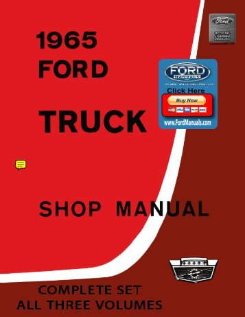 DEMO - 1965 Ford Truck Shop Manual - FordManuals.com