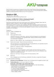 Programm Klimaforum 2008 - SEA-Arbeitsgemeinschaft Klima, Energie ...
