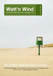 10 Jahre NaturWatt-Strom.