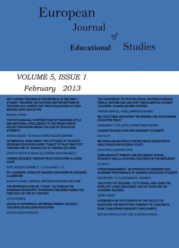 Volume 5 Issue 1 - Ozean Publications
