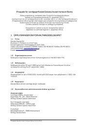 Prospekt for verdipapirfondet Danske Invest Horisont Rente 1 ...
