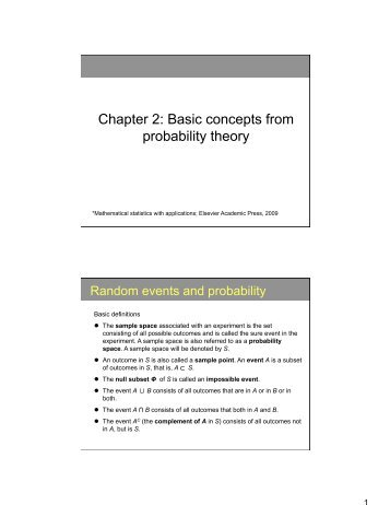 Chapter 2: Basic concepts from probability theory