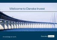 Presentation brochure (PDF, 8 pages) - Danske Invest