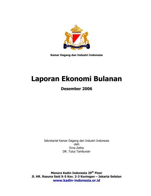 Laporan Ekonomi Bulanan Desember 2006 Kadin Indonesia