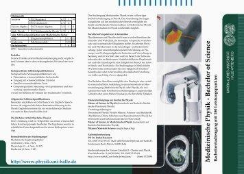 Medizinische Physik - Bachelor of Science