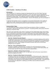 GTIN Implementation Checklist – Providers - GS1 Canada