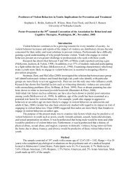 Predictors of Violent Behaviors in Youth: Implications ... - Psychology
