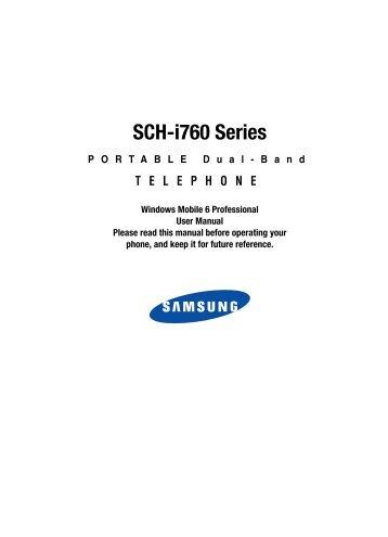 Schi760 cellular/pcs cdma phone with wlan and bluetooth user.