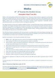 ABHI Medica Application Form 2011 - Association of British ...