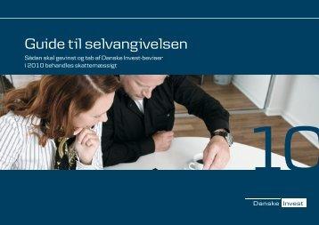 """""""Guide til selvangivelsen 2010"""". - Danske Invest"""