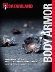 0101.06, BallIStIc reSIStaNce of Body armor - Kentucky: Office of ...