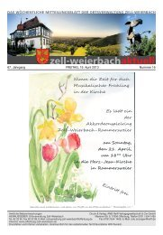 Mitteilungsblatt kw 16-2013.pdf - Zell-Weierbach