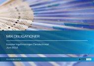 Læs brochuren om afdeling Mix Obligationer - Danske Invest