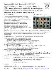 u. Klimaanlagen (VDI 6022 Typ A / ÖNORM H6021)
