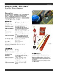 "Miller QuickPickâ""¢ Rescue Kits - Honeywell Safety Products"