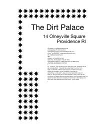The Dirt Palace (Providence, USA) - Sparwasser HQ
