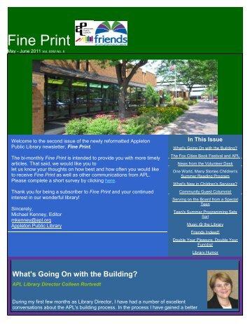 Fine Print - Appleton Public Library