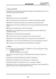 MÅLPROGRAM Sida 1 - Banportalen