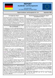 Report Nummer 20 - Ausländerrecht für die Polizei