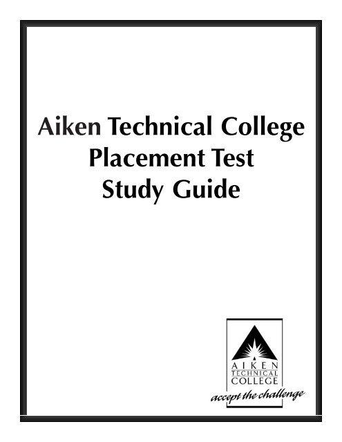 Aiken Technical College Placement Test Study Guide