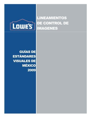 LINEAMIENTOS DE CONTROL DE IMAGENES - LowesLink