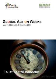 Infos zu den Global Action Weeks - Welthaus