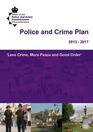 Police and Crime Plan - Forest of Dean District Council