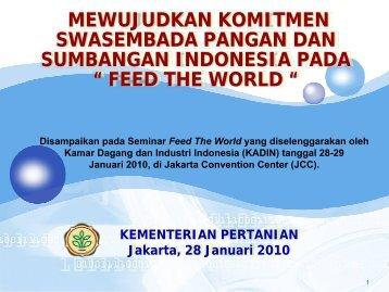 B. Sektor Pertanian - Kadin Indonesia