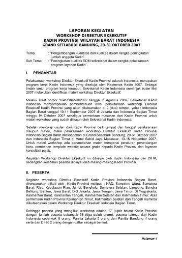 LAPORAN KEGIATAN - Kadin Indonesia