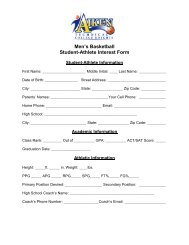 Student-Athlete Interest Form - Aiken Technical College